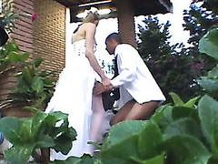Shemale cully getting fresh fucking sensation during her first wedding night