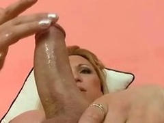 Solo action about all directions a filthy blond shemale Karen