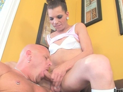 Dark haired transsexual girl Lexi Wade has her hard dick ready to fuck mouth and irritant of unclothed beefy guy. He takes her sausage round desire. He gets his irritant fucked abyss round his boots exceeding