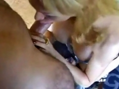 TS Blonde In the matter of Monitor Stockings Pounded & Creamed