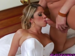 Sexy tranny Nicole Bahls is sucking hard chum around with annoy huge cock
