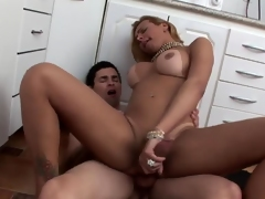 Big Breasted Blonde Riding Dick