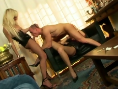 Horny muscled blot out enjoying sex crazed shemales